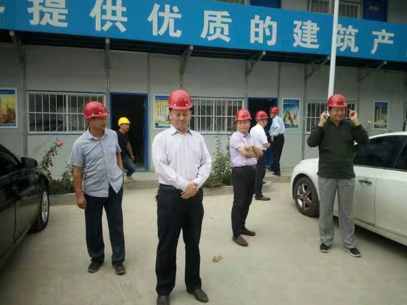 公司董事长一行四人到新泰两项目检查指导工作